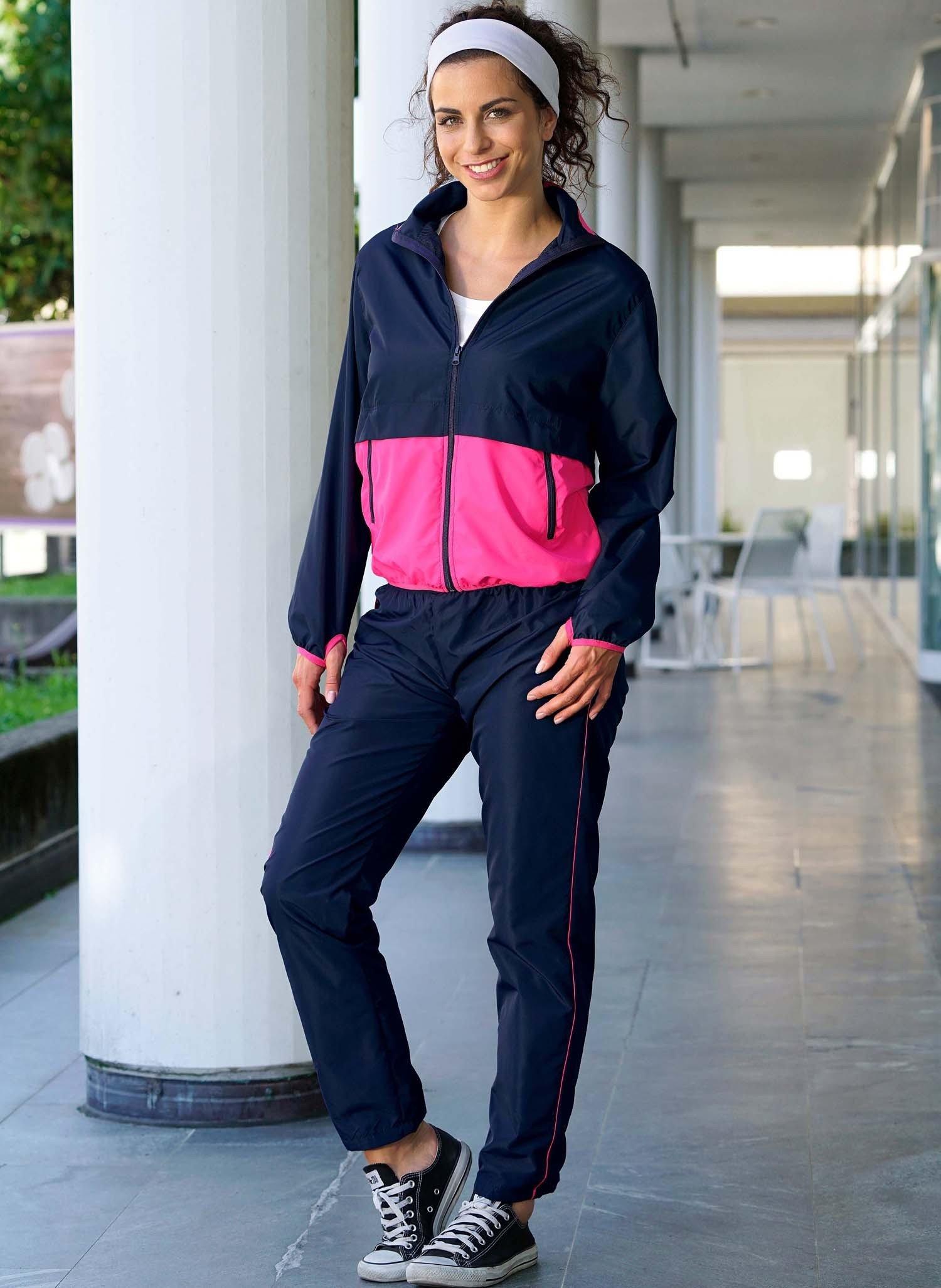 D-Jogging-Anzug marine/pink L 116 - 1 - Ronja.ch
