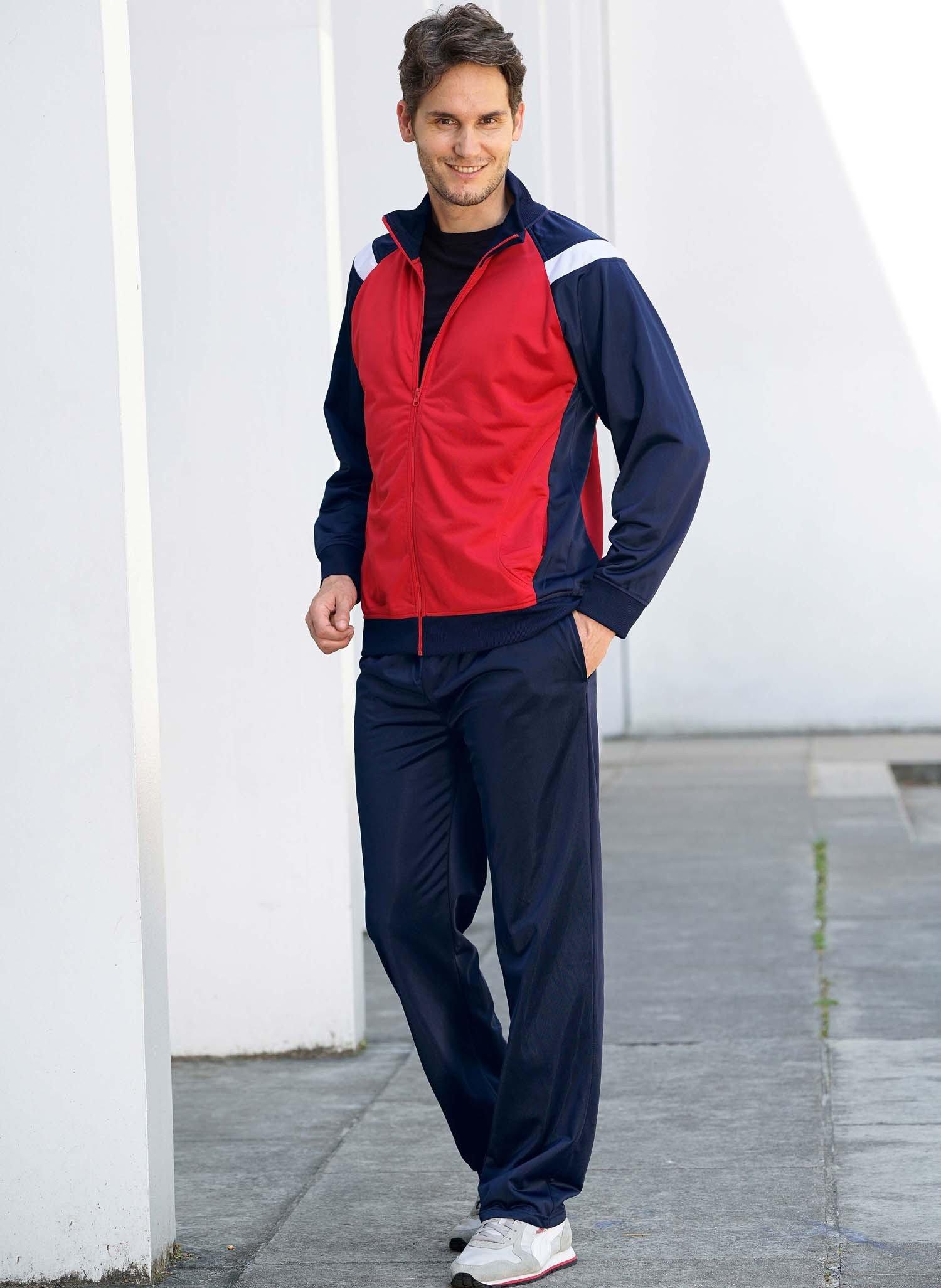 H-Complet-Jogging marine/rouge