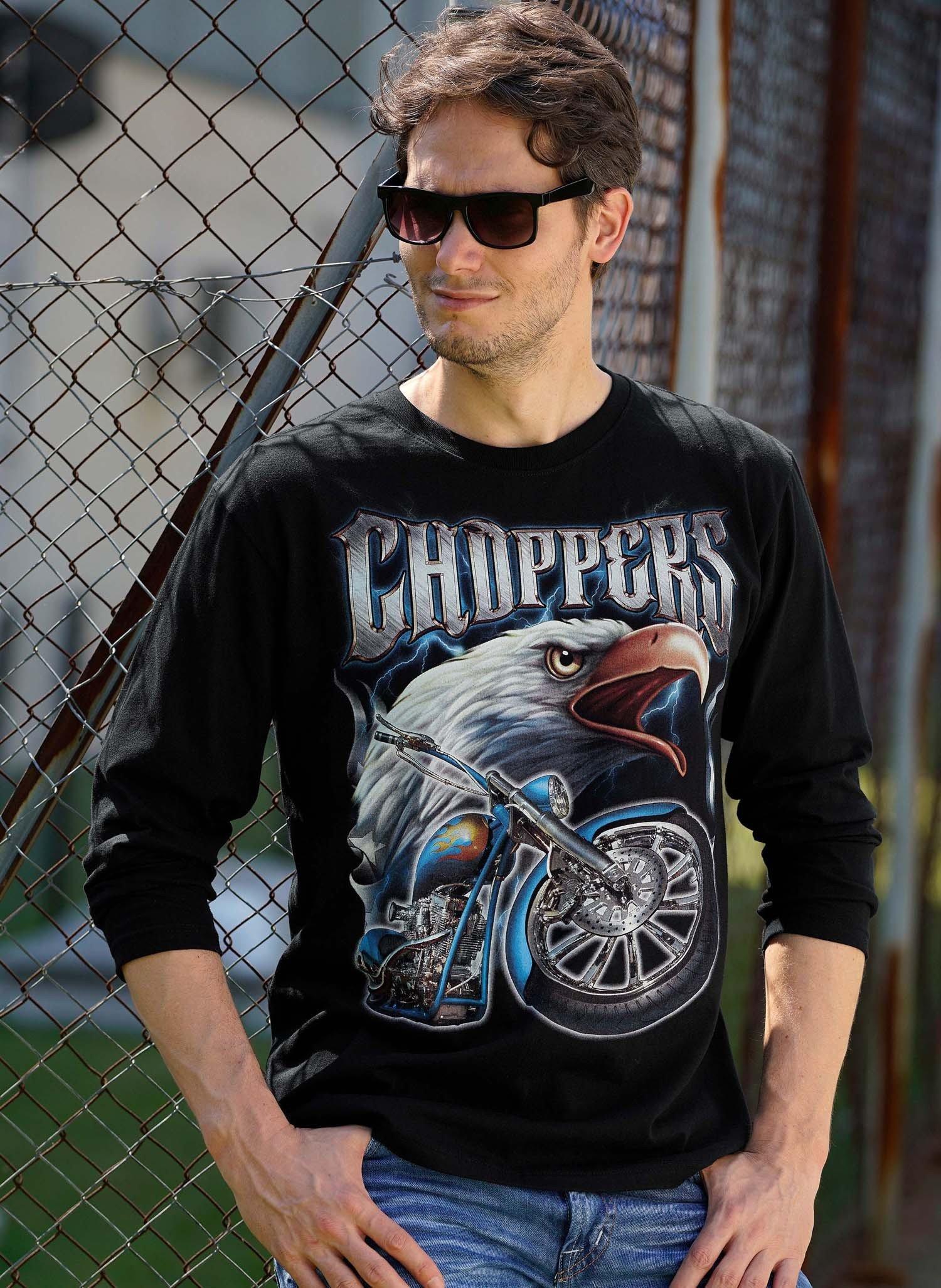H-Shirt Ml, Aigle/Moto, noir