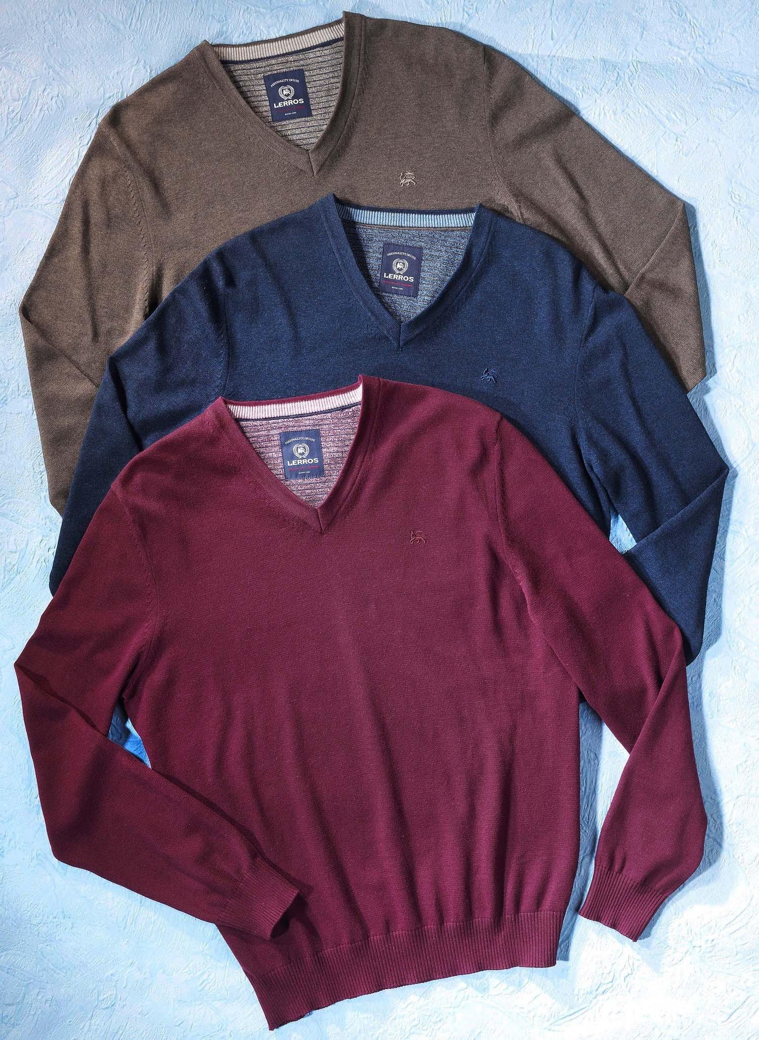 H-Pullover,V-Neck.braun L 043 - 2 - Ronja.ch