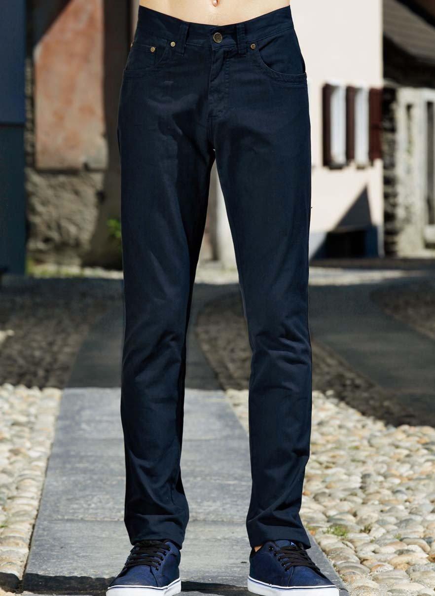 H-Pantalon-5-poches marine