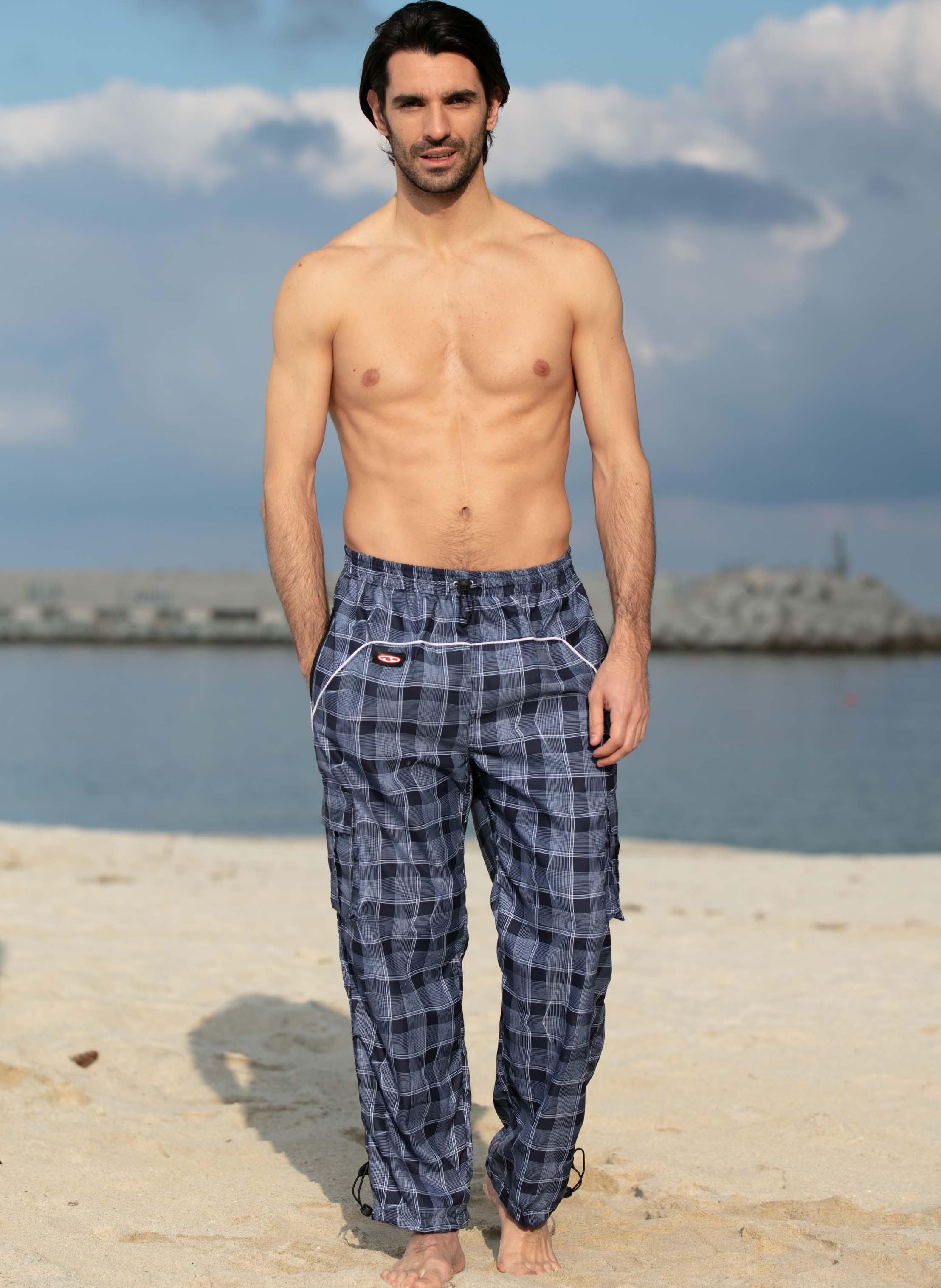 Pantalon de loisirs, motif à carreaux