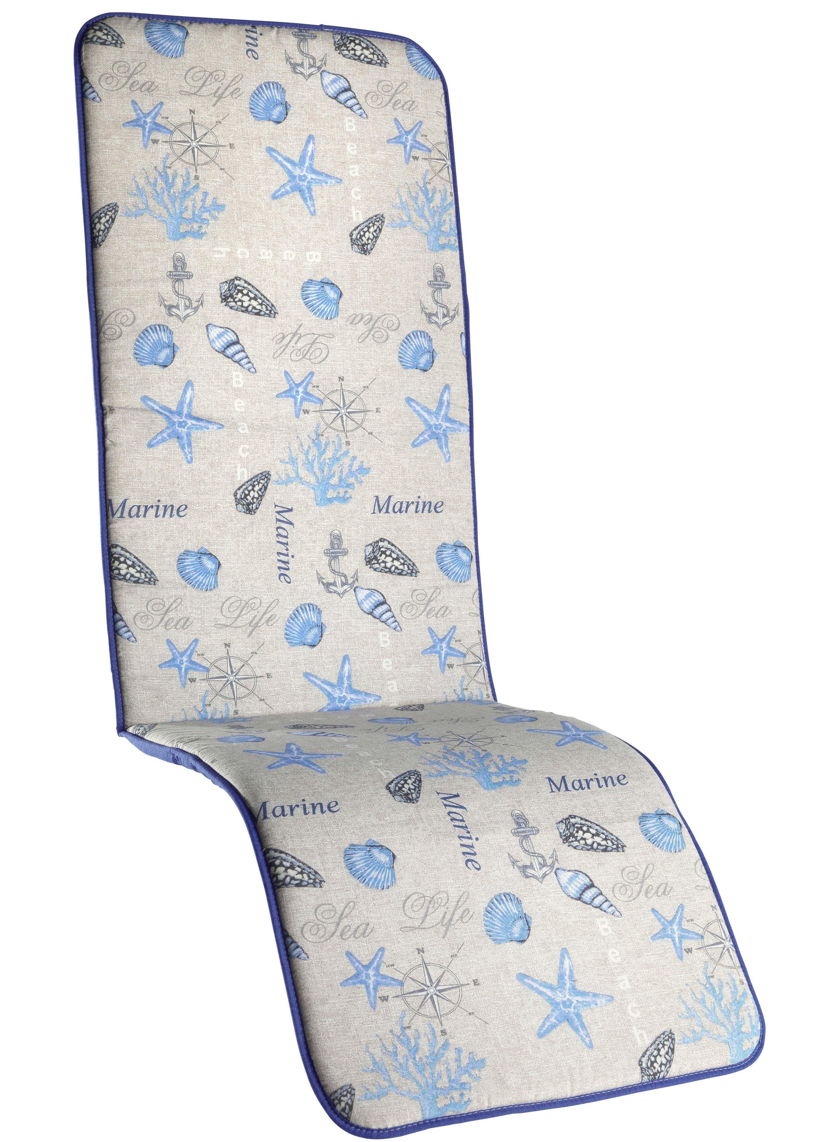 Cous.chaise longue Ét.mer bleu