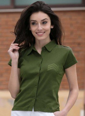 Shirt blouse, emblême officiers