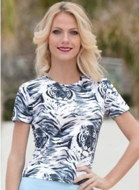 Top, motif tigre
