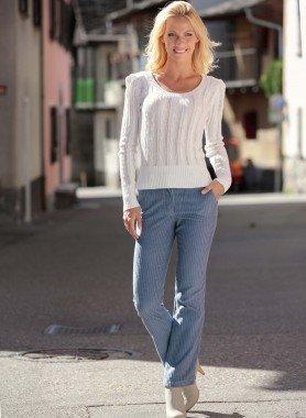 Pantalon en velours côtelée