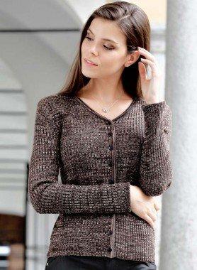 Veste en tricot  chiné