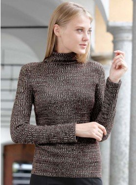 Pull-over en tricot chiné