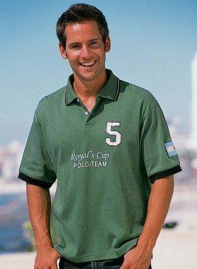 """Shirt à polo """"Nr.5"""",  vert"""