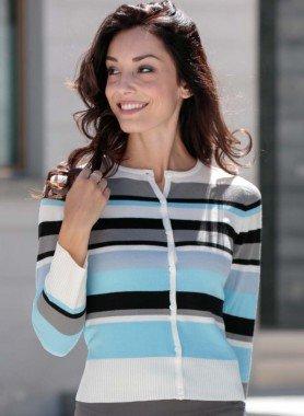 Veste en tricot fin