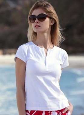 Shirt Serafino, boutons pression
