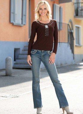 6-Pocket-Jeans, Strassherz