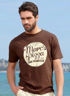 """Shirt à manches courtes """"Marc's Pizza"""""""