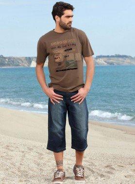 Jeans Skater, coutures aux genoux