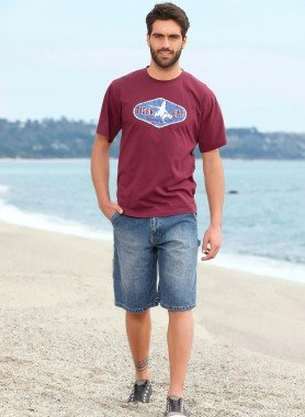 Bermuda Jeans, Blue-Denim