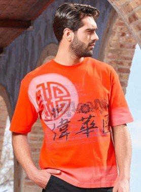 Shirt à manches courtes, imprimé REthno