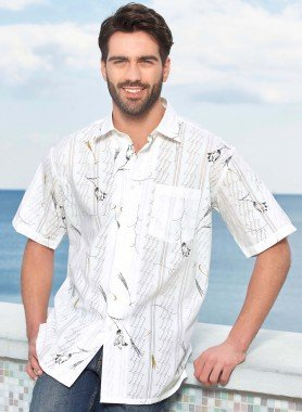 Chemise à manches courtes, imp.fleurs