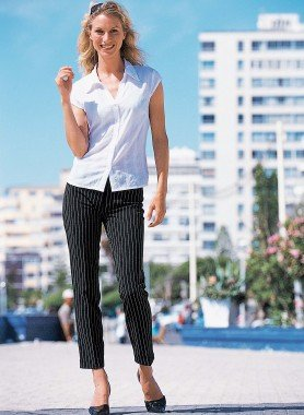 Pantalon 7/8, fines rayures