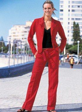 Pantalon,  lin/coton