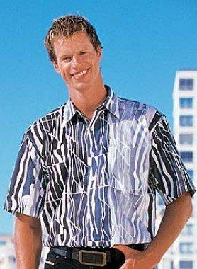 Chemise à manches courtes, imp. graphique