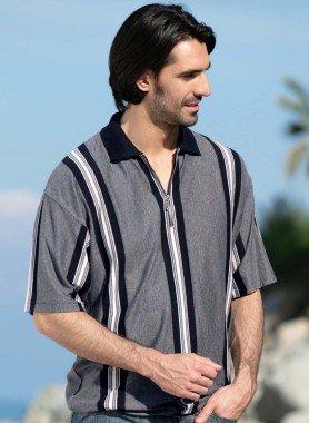 Polo-Shirt, rayures moderne