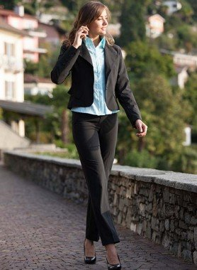 Complet  Blazer/Pantalon, noir rayé