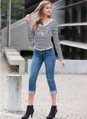 Jeans capri 5 poches