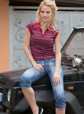 Jeans Capri  6 poches