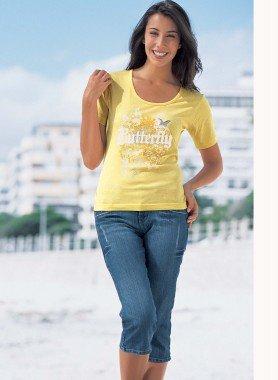 Jeans Capri, 5 poches