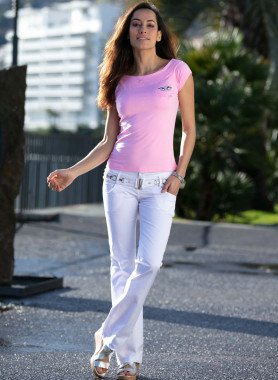 Pantalon stretch,4 poches,ceinture incluse