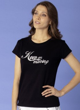 """Shirt à manches courtes """"Keep on Moving"""""""