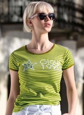 Shirt, m,courtes, étoile imprimée