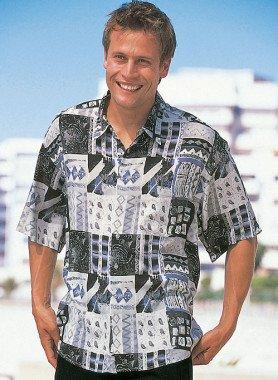 Chemise à manches courtes, motif Patch-Work