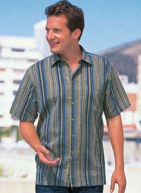 Chemise à manches courtes, look lin
