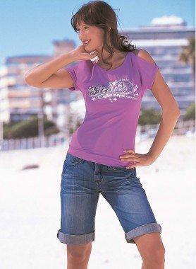 Bermuda Jeans avec revers