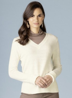 Pullover en tricot