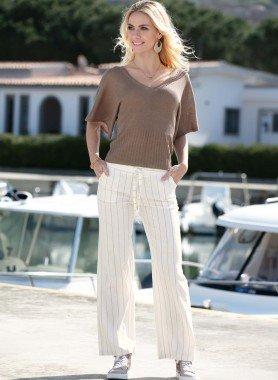 Pantalon, fines rayures