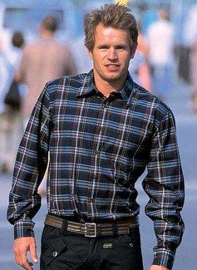 Chemise à carreaux, bleu/ocre