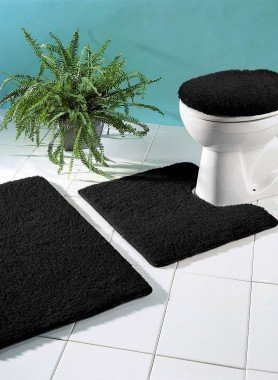 Garniture Bain/WC, teinte unie , 3 pièces