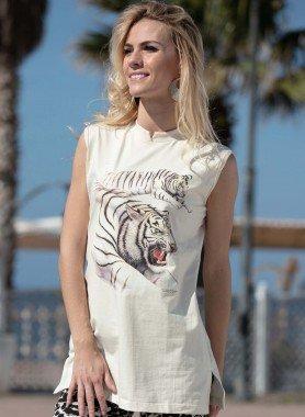 Long-Shirt, motif tigre