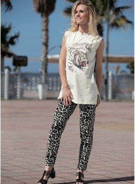 Pantalon, motif léopard