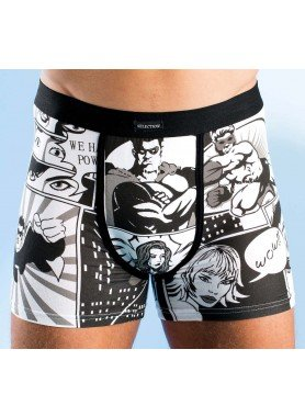 H-Boxer,Comic 2er-Set schw/we. L 062 - 1 - Ronja.ch