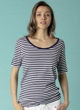 Shirt côtelé à manches courtes