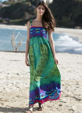 Robe d'été, motif multicolors