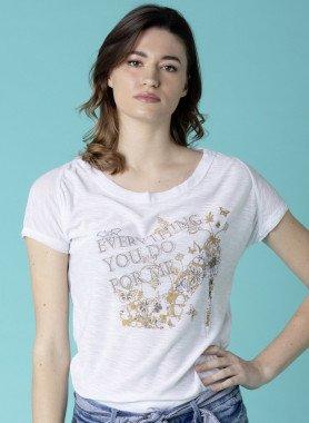 Shirt motif doré
