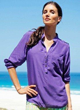 D-LA-Bluse,Brusttasche violett S 026 - 1 - Ronja.ch