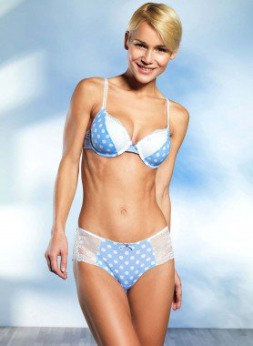 D-Panty, Tupfen, ciel/weiss 36 261 - 1 - Ronja.ch