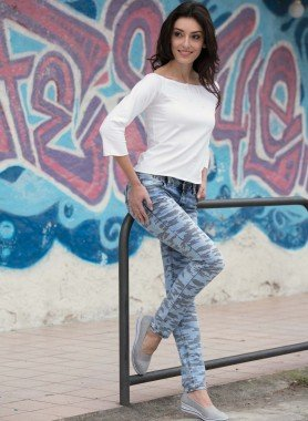 Jeans 5 poches, coupe étroite