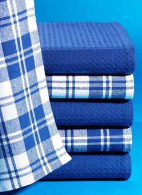 Küchentücher,3xblau,3xKarro - 1 - Ronja.ch