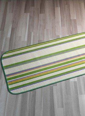"Teppich""STREIFEN""grün 57x115 - 1 - Ronja.ch"